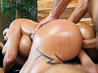 Mature Milf Double Penetration Fucked By Two Massage Guys