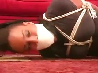 Ebony Babysitter Bound And Gagged