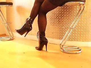 Sexy Black High Heels Stiletto Boots