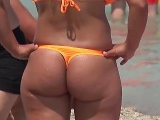 아마추어, 바보, 아기, 뚱보, 바닷가, 큰 엉덩이, 공공의