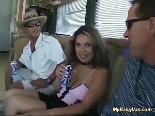 Her First Rough Bangvan Orgy