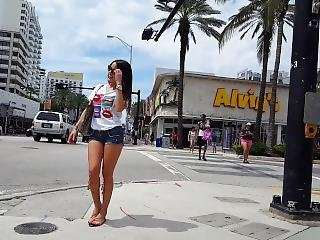 Candid Voyeur Hot Latina Shopping With Mom