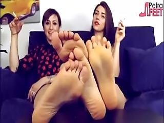 Petra And Ammalia Put Their Feet In Your Face