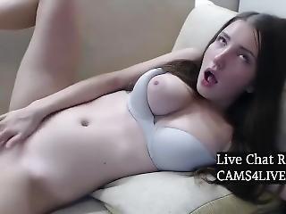 Busty Teen Teasing On Webcam