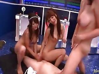 Reverse Gangbang In A Japanese Tv Show