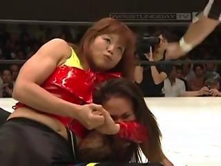Nanae Takahashi Vs Mercedes Martinez - Stardom 07 24 11
