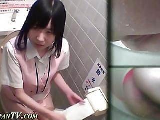 Asian Pees On Toilet Cam