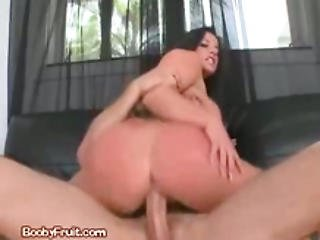 Horny Dark Haired Gets Fucked From Behind