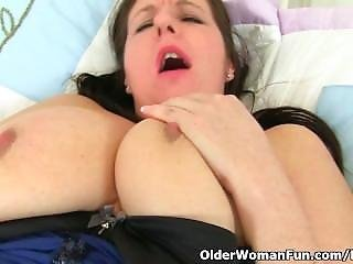 British Milf Jessica Jay Wears Crotchless Knickers