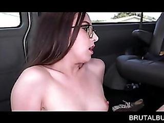 Teen In Glasses Fucked Deep And Facialized