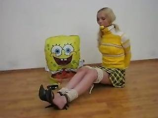 Anyasweet Is Bound And Gagged With A Sponge Ball (tneck) (oldies)