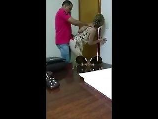Lebanese Woman Fucked By Worker While Her Husband Is Just Outside