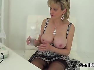 Buxom Bisexual Spouse Lady Sonia Pets Her Giant Tits And Pleases Spread Snatch In Lingerie