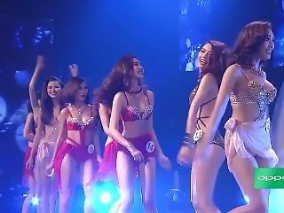 asiatique, bikini, brunette, célebrité, jeune