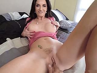 Fingering My Busty Milf Stepmothers Frustrated Pussy