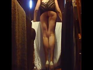 Housework Ironing Upskirt In Heels & Lingerie Ass Flashing