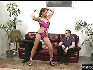 Natasha Vega In One Kinky Bitch. Her Submissive Men Licks Her Armpits And