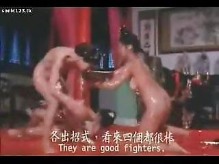 Classic Catfights-nude Oil Wrestling