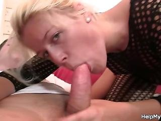 Fuck My Blonde Wife In Fishnets While I Watch