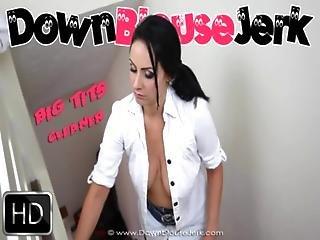 Big Tits Downblouse Cleaner