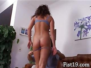 Lover Fisting And Penetrating Her Ass