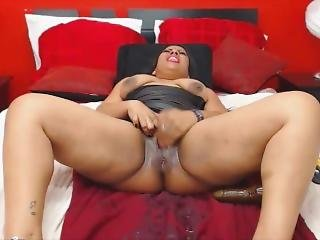 Bootylicious Latin Sheilahawk Gets Triple Squirt Fontain