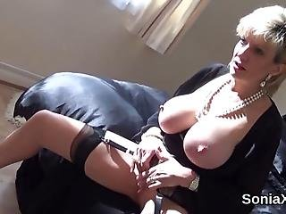 Full Breasted Bisexual Married Woman Lady Sonia Teases Her Enormous Hooters And Pleases Spread Cunt In Undies