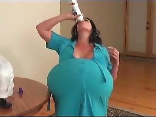 gross titte, brünette, cream, fetisch, witizg, milf