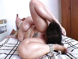 Famous Huge Butt And Slave S Tongue - Deep Tongue Fucking With Brazilian Pornstar