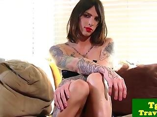 Tgirl Chelsea Marie Puts Dildo In Ass