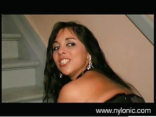 Salma De Nora In Leather