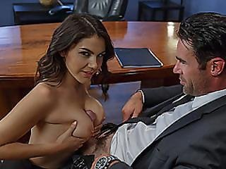 Hot Brunette Sexy Babe Valentina Nappi Gets Her Pussy Banged Hard At The Office