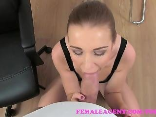 Femaleagent Sexy Agent Fucks Lucky Cameraman Fat Cock In Pov Casting