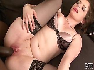 Young Teen Interracial Creampie Filled Up With Cum And Gets Big Ass Fucked Black