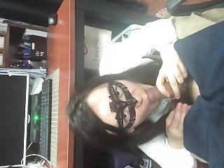 Horny Office Lady - Blowing Me Under Desk