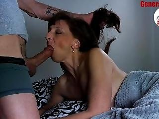 Nice Milf Blowjob Big Load Show Cum Swallow