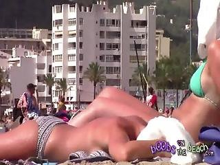 Bathing, Beach, Blonde, Lotion, Pierced, Sexy, Tanned, Vacation, Voyeur