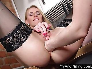 Try Anal Fisting Lesbo Ass Fisting In A Kitchen