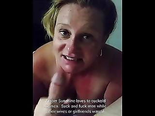 Slutty Milf Amber Sunshine Sucking Military Cock