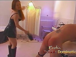 Sexy Redhead Dominatrix Puts Felix Through Some Painful