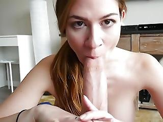 Pov Bj Titty Fuck And Cum Swallow