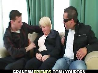 Drunk Lady Is Picked Up By Two Dudes
