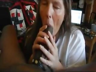 Amateur Mature Wife Sucking Big Black Cock