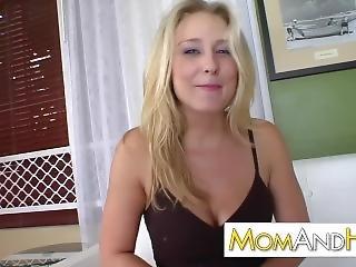 Blonde Milf Takes Facial