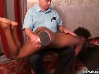 Spanking The Slim New Black Slave Girl (part 3)