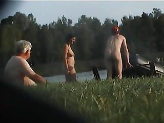 Amateur, Beach, Big Boob, Boob, German, Nude, Voyeur