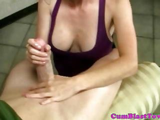 Shorthaired Cumloving Milf Gets Facialized