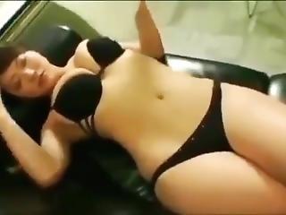 Sexy Japanese Teen In Black Bikini
