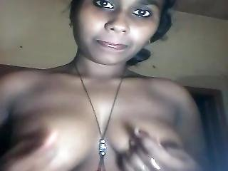 Hot Big Boobed Indian Girl Stripping On Camera