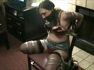 Amateur Struggles And Escapes From Chair Bondage